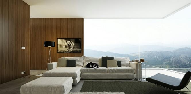 Living Room With Outdoor View by Mohit Kumar Living-room Modern | Interior Design Photos & Ideas