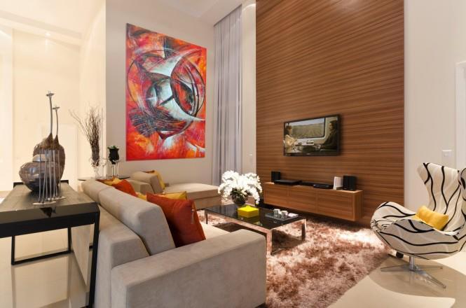 Living Area With Soft Carpet by Mohit Kumar Living-room Contemporary | Interior Design Photos & Ideas