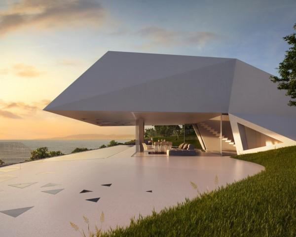 Mint Cream Shaded Verandah by Mohit Kumar Open-spaces Modern   Interior Design Photos & Ideas