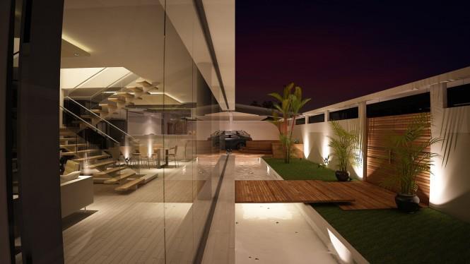 Open Veranda Beside Living Area by Mohit Kumar Open-spaces Modern   Interior Design Photos & Ideas