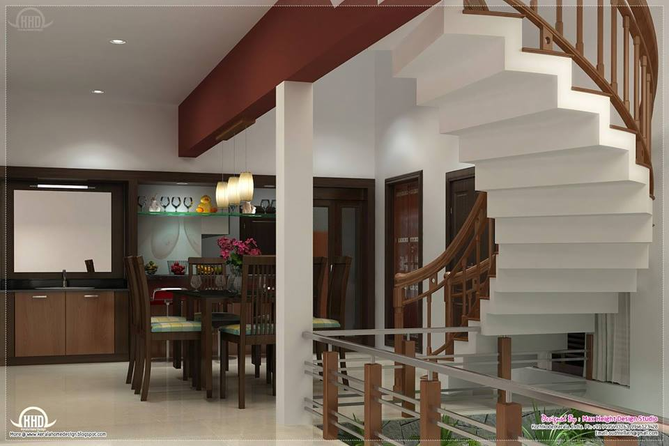 Classic Dining Room With Stairs by Mohit Kumar Indoor-spaces Contemporary | Interior Design Photos & Ideas