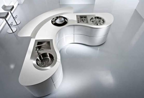 Designer White Shaded Kitchen by Mohit Kumar Modular-kitchen Modern | Interior Design Photos & Ideas