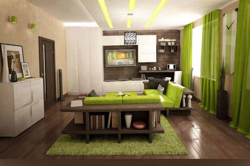 Living Room With Harlequin Decor And Wooden Floor by Mohit Kumar Living-room Contemporary | Interior Design Photos & Ideas