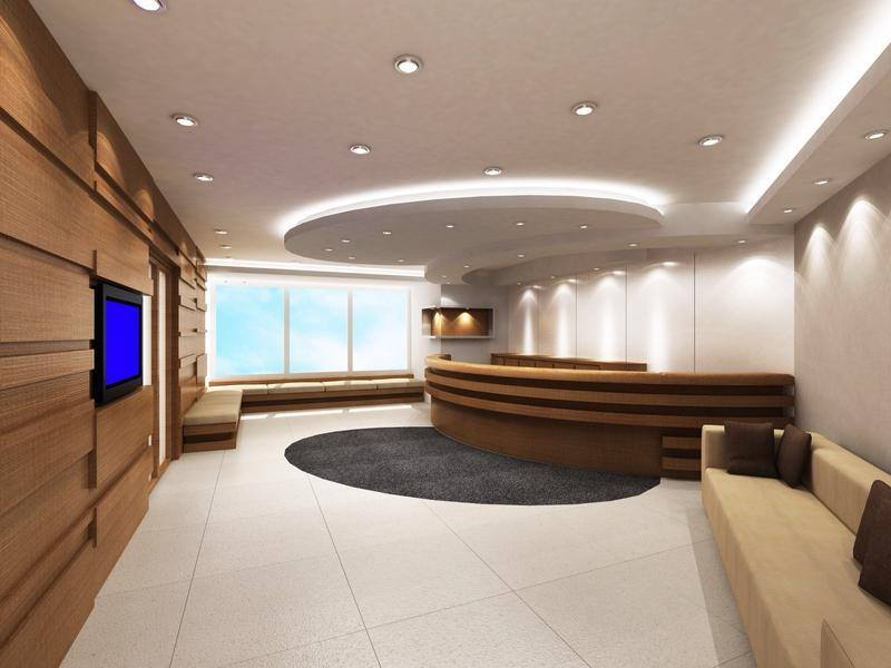 Modern Office Reception With Round Ceiling by Mohit Kumar Modern | Interior Design Photos & Ideas