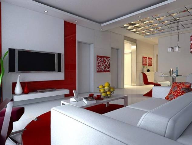 Cherry Shaded Living Room by Mohit Kumar Living-room Contemporary | Interior Design Photos & Ideas