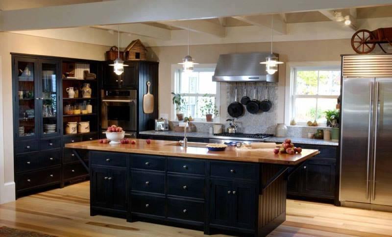 Vintage Modular Kitchen With Wooden Floor by Mohit Kumar Modular-kitchen Modern | Interior Design Photos & Ideas