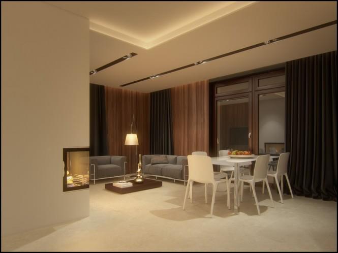 Buff Shaded Dining Room by Mohit Kumar Dining-room Modern | Interior Design Photos & Ideas