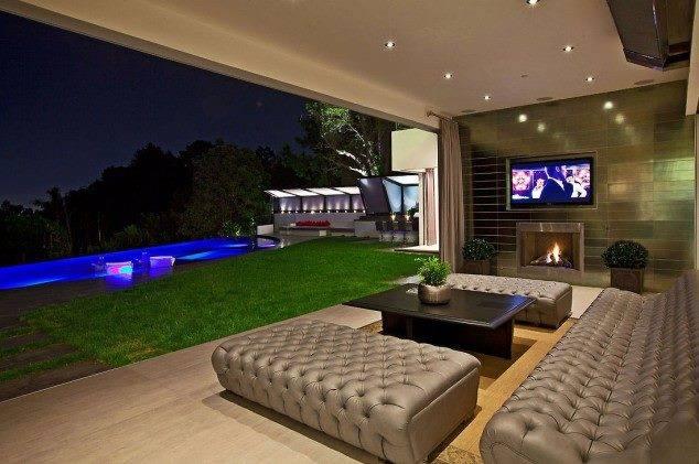 Living Room With Veranda View by Mohit Kumar Living-room Contemporary   Interior Design Photos & Ideas