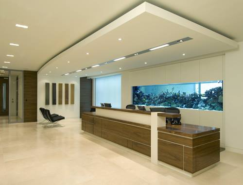 Office Reception With Off White False Ceiling by Mohit Kumar Modern | Interior Design Photos & Ideas