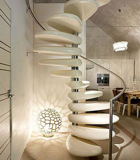 Seashell Themed Staircase by Mohit Kumar Indoor-spaces Contemporary | Interior Design Photos & Ideas
