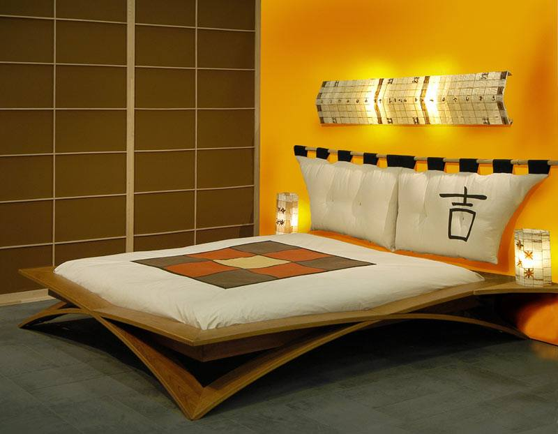 Yellow Shaded Japanese Style Bedroom by Mohit Kumar Bedroom Contemporary | Interior Design Photos & Ideas