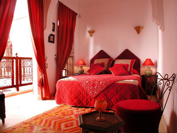Red Themed Bedroom by Raja Khan Bedroom Contemporary | Interior Design Photos & Ideas