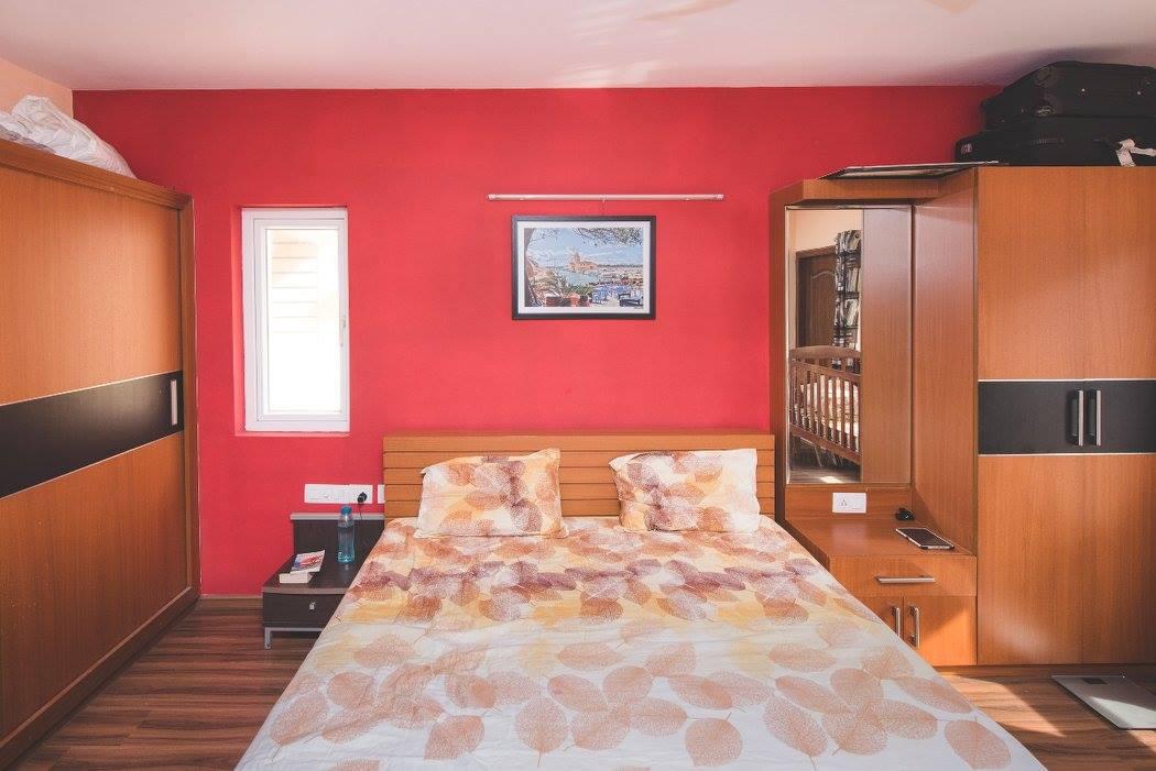 Pine Oak Wooden Wardrobe by Shyama Viswanathan Bedroom Contemporary | Interior Design Photos & Ideas