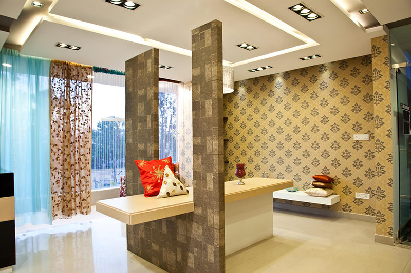 Toffee Shade Display Unit by Dinsignia Architects And Interiors Living-room Modern   Interior Design Photos & Ideas