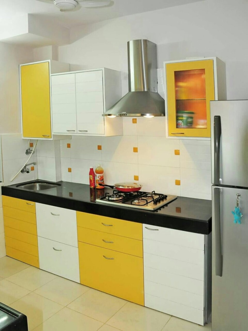Mustard Kitchen by Estudio RJ Modular-kitchen Modern | Interior Design Photos & Ideas