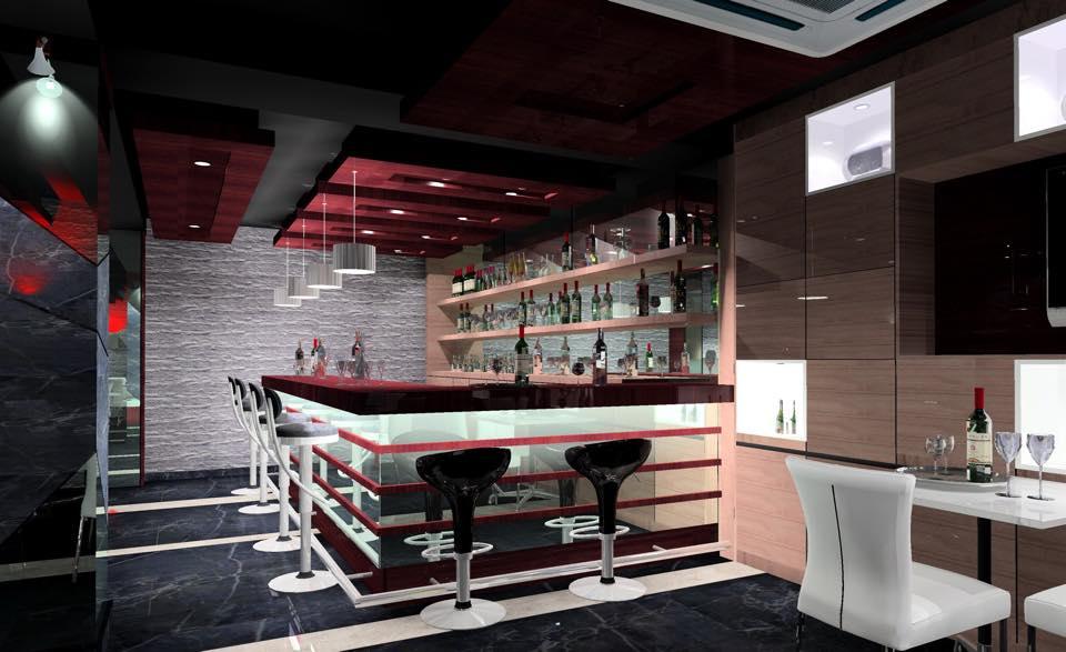 Retro bar with modern style sitting by Prashant Mali Contemporary | Interior Design Photos & Ideas