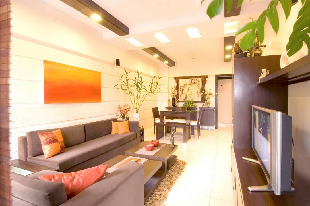 Living Room With Modern Sleek Furniture by Nikeeta Mehta Living-room Modern   Interior Design Photos & Ideas