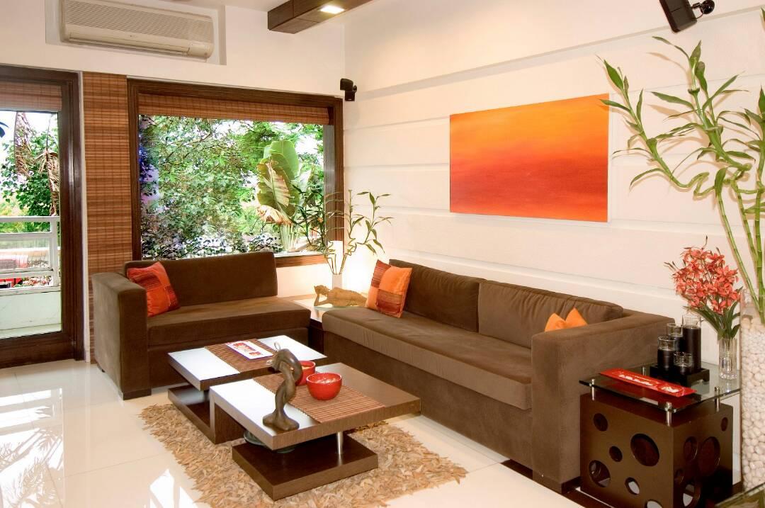 Living Room With Modern Sleek Furniture by Nikeeta Mehta Living-room Modern | Interior Design Photos & Ideas