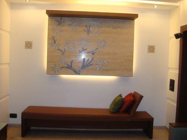 Living Room With Wall Art by Nikeeta Mehta Living-room Modern | Interior Design Photos & Ideas