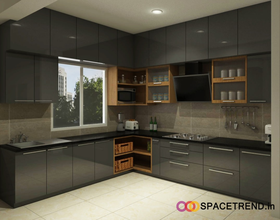 L Shaped Modular Kitchen By Nishant Bafna