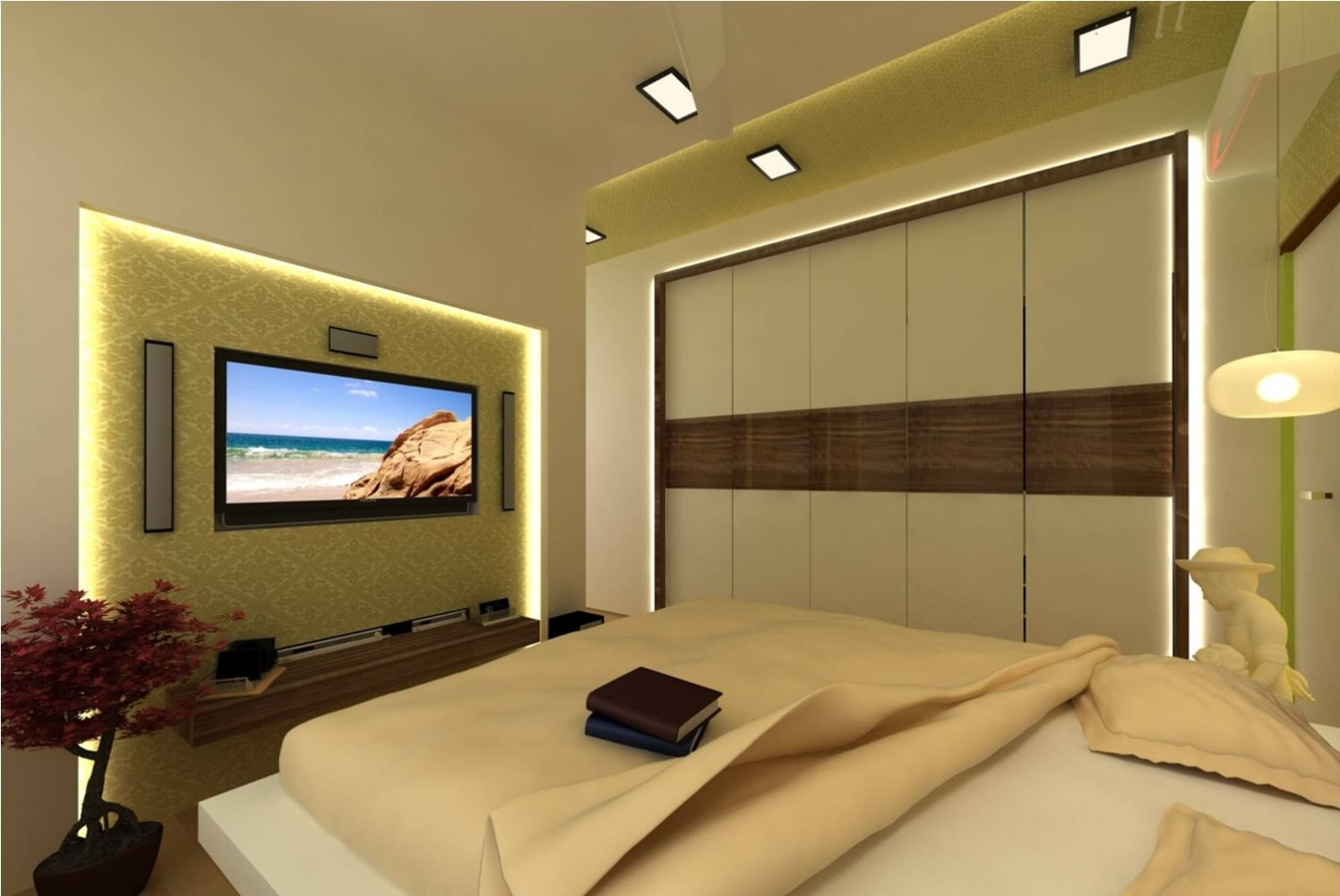 A stunning bedroom design! by Red Touch Interior & Retail Designers Bedroom Contemporary | Interior Design Photos & Ideas