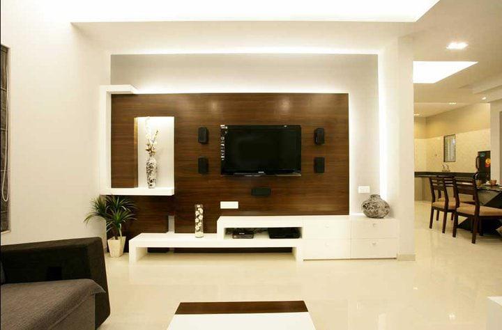 Living room TV area by Jitesh Dhoka Modern | Interior Design Photos & Ideas