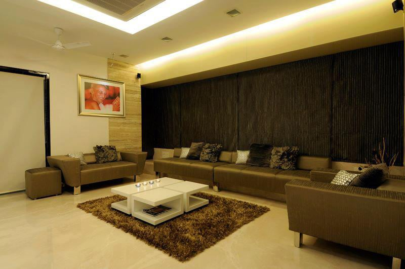 Modern living room with blinds by Jitesh Dhoka Modern | Interior Design Photos & Ideas