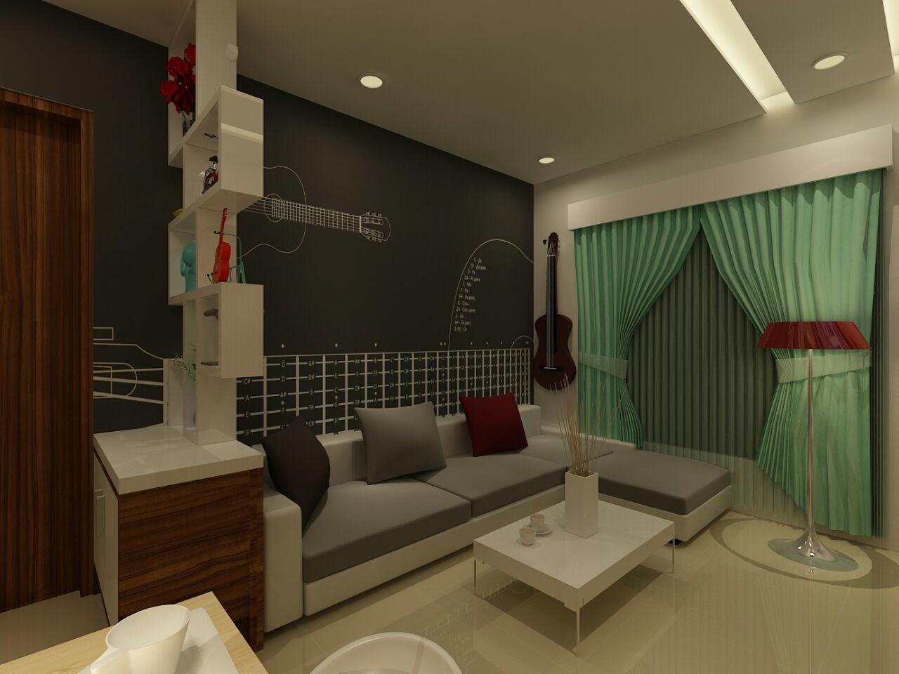 A contemporary living room! by Amara nasreen Living-room Contemporary | Interior Design Photos & Ideas