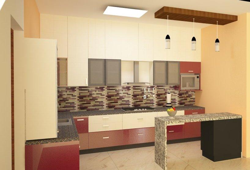 A Modern Modular Kitchen! by Amara nasreen Modular-kitchen Modern | Interior Design Photos & Ideas