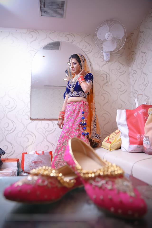 Beauteous Bride Wearing Pink And Blue Lehenga by Mohit Wedding-photography | Weddings Photos & Ideas