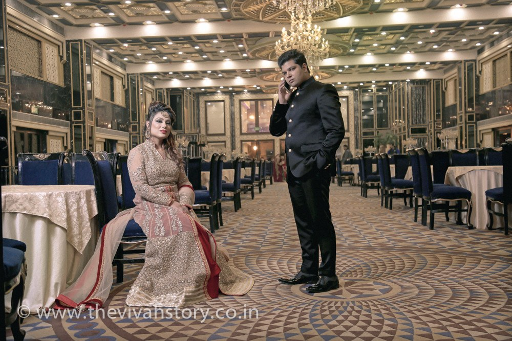 A Ravishing Bride And Groom Portrait by Mohit Wedding-photography Groom-wear-and-accessories Wedding-dresses | Weddings Photos & Ideas