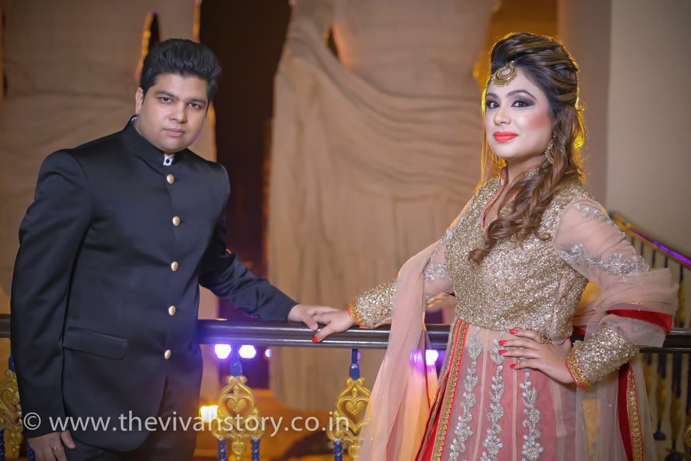 Bride And Groom On Wedding Reception Day by Mohit Wedding-photography | Weddings Photos & Ideas