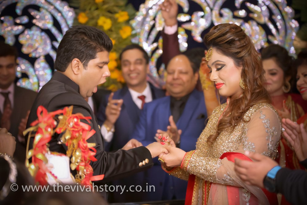 Candid Shot Of The Couple On Engagement Day by Mohit Wedding-photography | Weddings Photos & Ideas