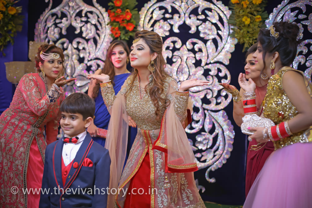 Engagement Day Performance By The Bride-To-Be And The Bridesmaid by Mohit Wedding-photography | Weddings Photos & Ideas