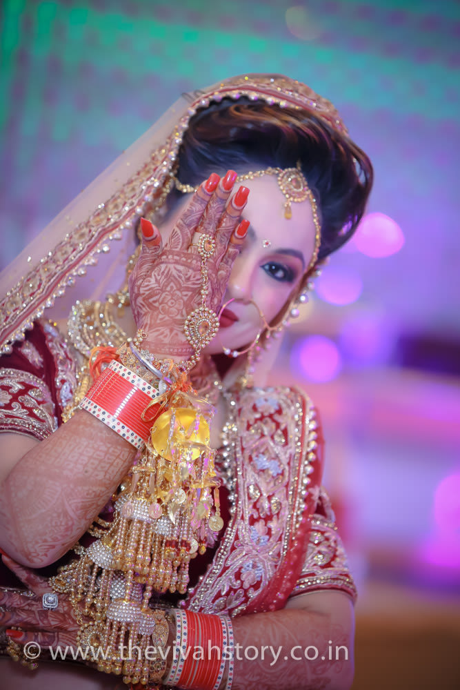Bridal Portrait For The Wedding Day by Mohit Wedding-photography Bridal-jewellery-and-accessories | Weddings Photos & Ideas