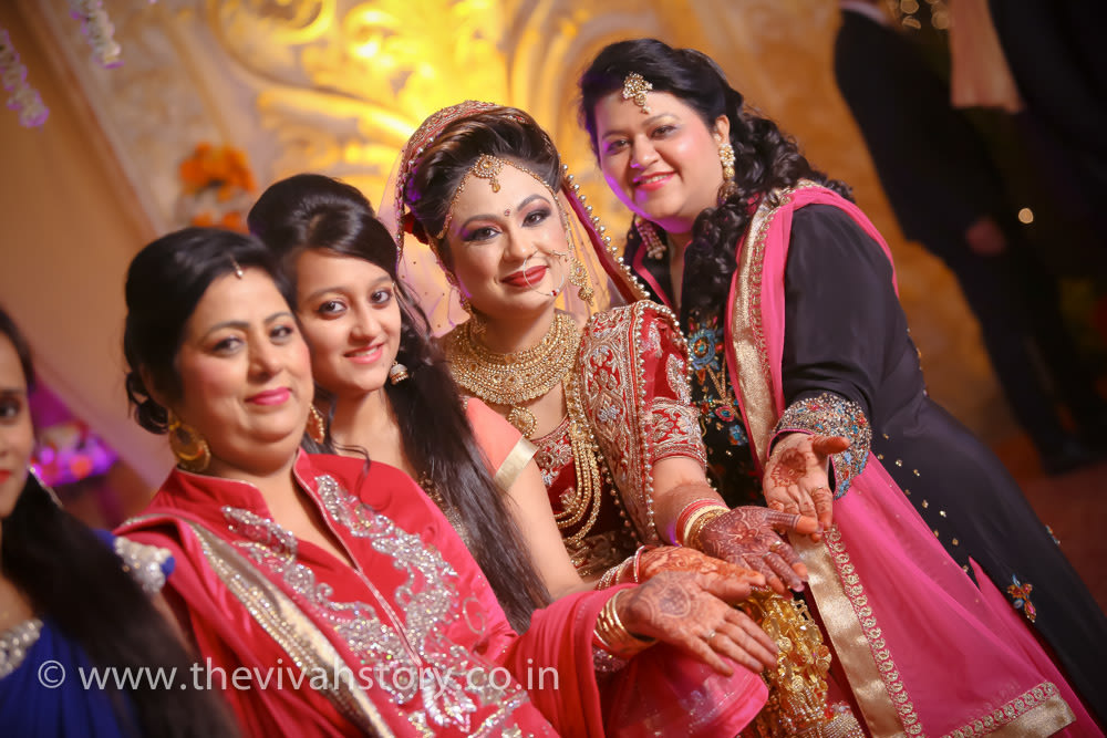 Bride With The Family On Her Special Day by Mohit Wedding-photography | Weddings Photos & Ideas