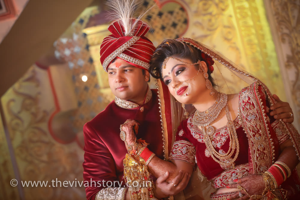 A Beautiful Couple Portrait by Mohit Wedding-photography | Weddings Photos & Ideas