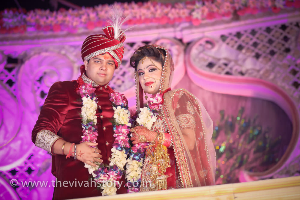 Perfect Couple Portrait On Wedding Day by Mohit Wedding-photography | Weddings Photos & Ideas