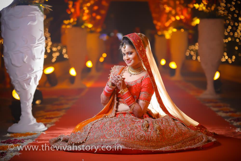 Candy Colored Bridal Lehenga Lavished With Gold Work by Mohit Wedding-photography Wedding-dresses | Weddings Photos & Ideas