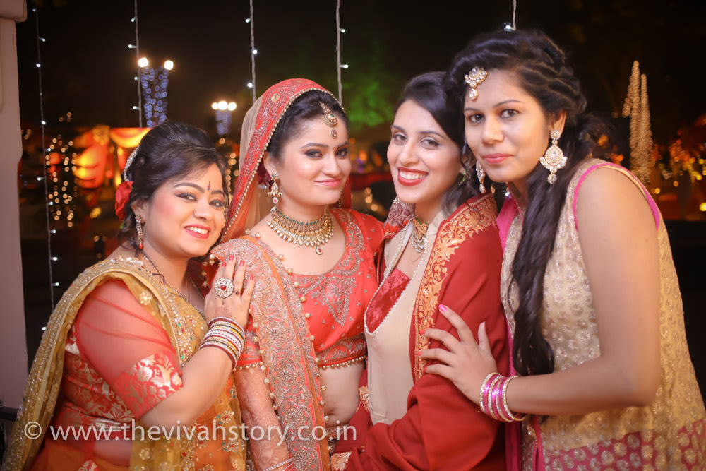 Bride With Her Bridesmaid On Wedding Day by Mohit Wedding-photography | Weddings Photos & Ideas