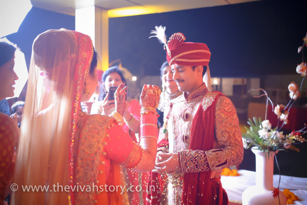 Bride And Groom Stunning Portrait by Mohit Wedding-photography Groom-wear-and-accessories | Weddings Photos & Ideas