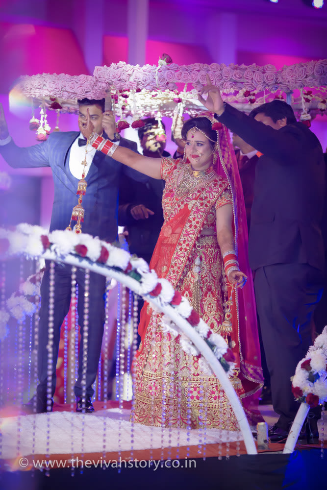 Stunning Bridal Entry On Her Wedding Day by Mohit Wedding-photography | Weddings Photos & Ideas