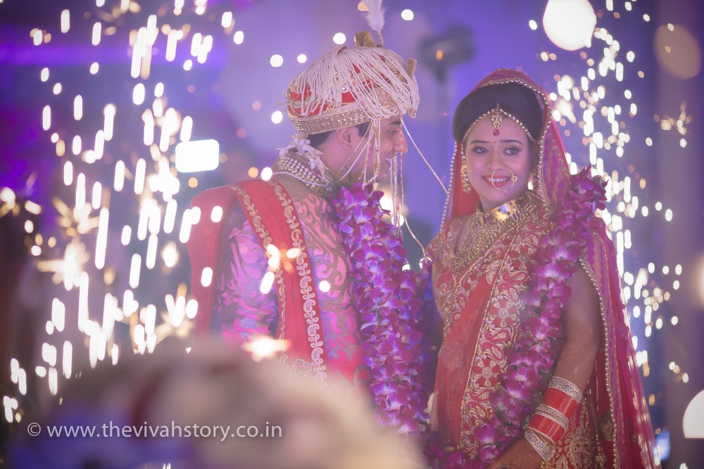 Stunning Together On Wedding Day by Mohit Wedding-photography Groom-wear-and-accessories | Weddings Photos & Ideas
