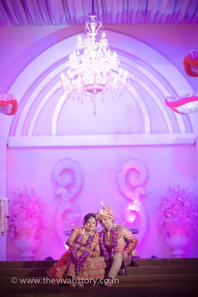 Couple Portrait With Beautiful Wedding Decor by Mohit Wedding-photography Wedding-decor | Weddings Photos & Ideas