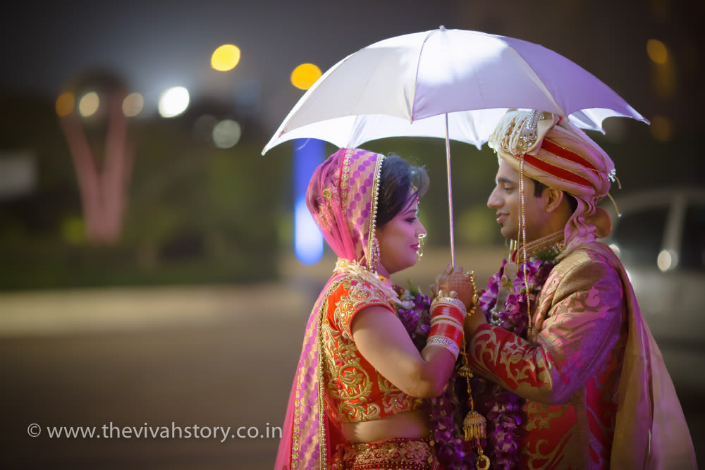 A Stunning Portrait Of The Bride And Groom by Mohit Wedding-photography | Weddings Photos & Ideas