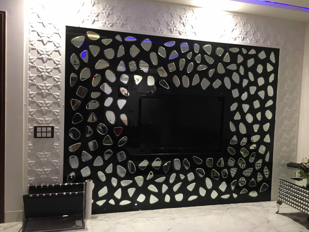 living room wall design by Aashna Jain  Modern | Interior Design Photos & Ideas