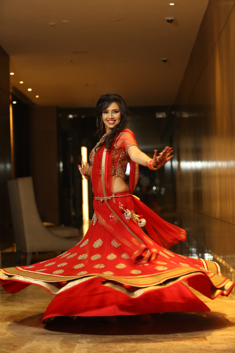 Bride Wearing a Gorgeous Crimson Red Lehenga With Thin Gota Patti Work by Amit Kumar Wedding-photography Wedding-dresses | Weddings Photos & Ideas