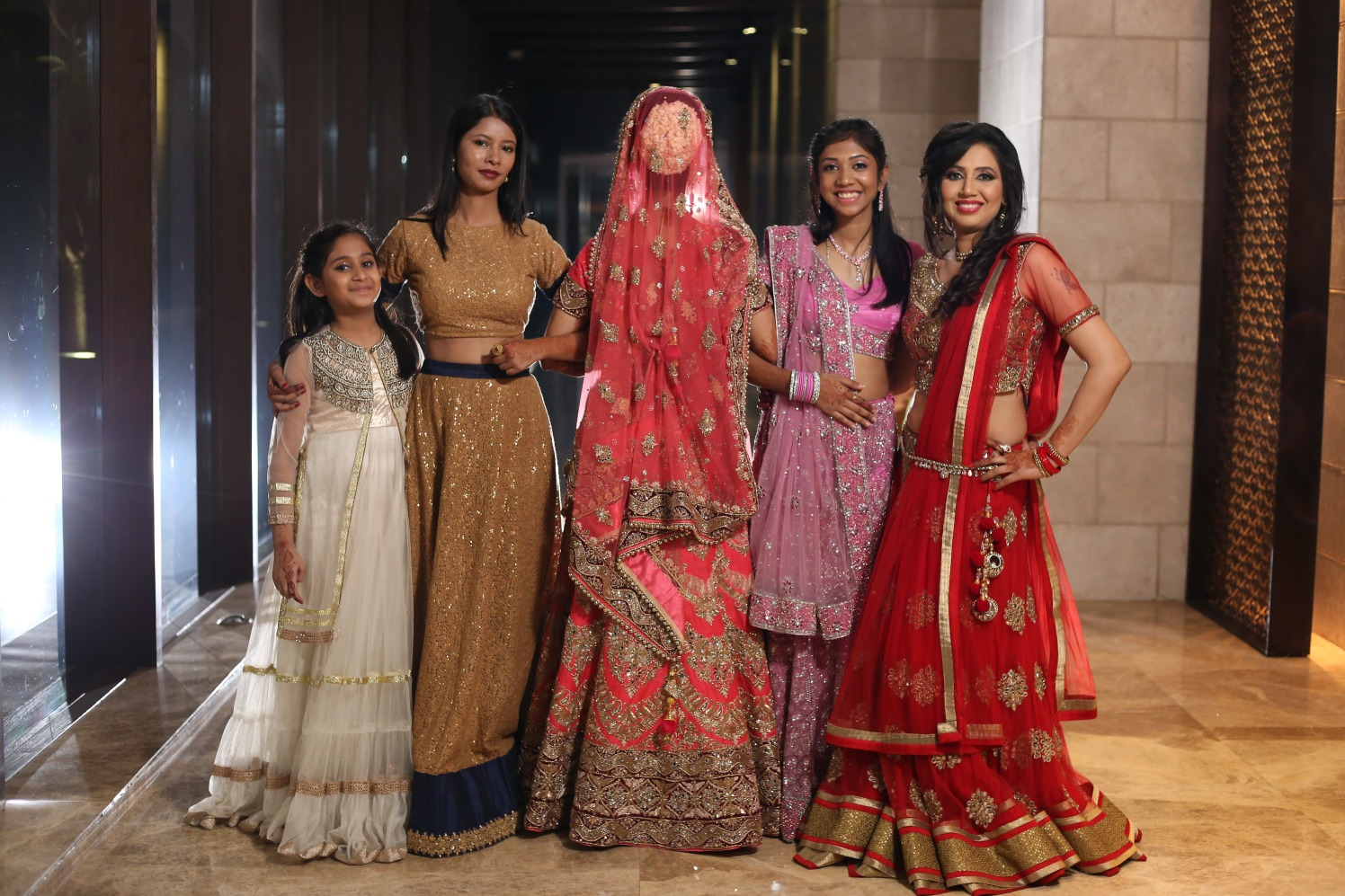 Bride Poses With Her Sisters by Amit Kumar Wedding-photography | Weddings Photos & Ideas