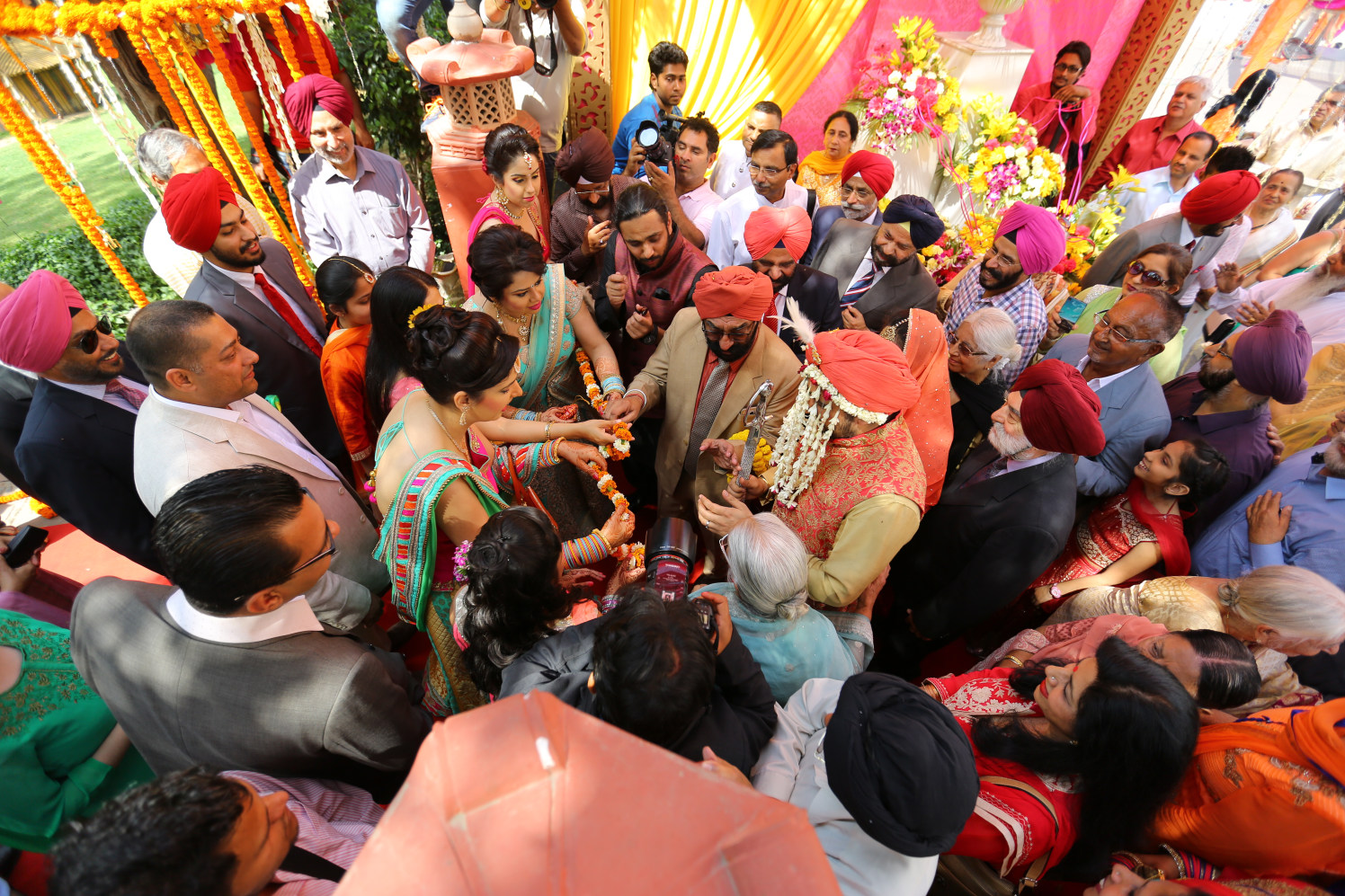 A Splendid Aerial View of the Grand Welcome of the Punjabi Groom by Amit Kumar Wedding-photography | Weddings Photos & Ideas