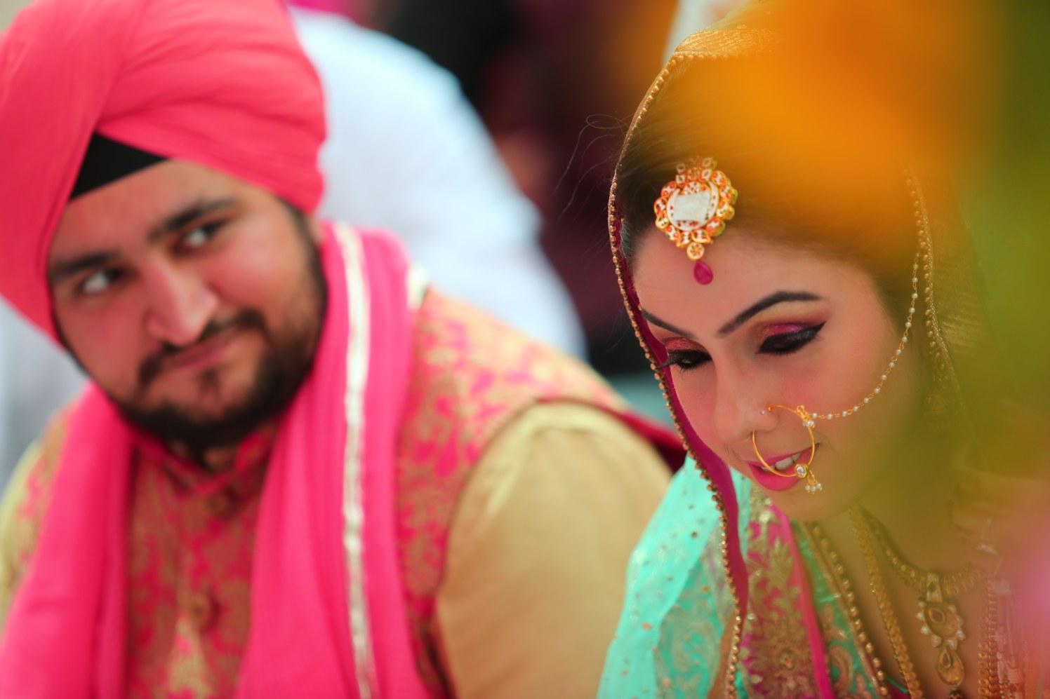 Bride Wearing Stunning Bold Pink Eye Makeup by Amit Kumar Wedding-photography Bridal-makeup | Weddings Photos & Ideas